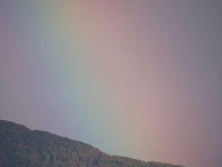 Niigata,Japan-October 20,2020: Rainbow viewed through telescope lens
