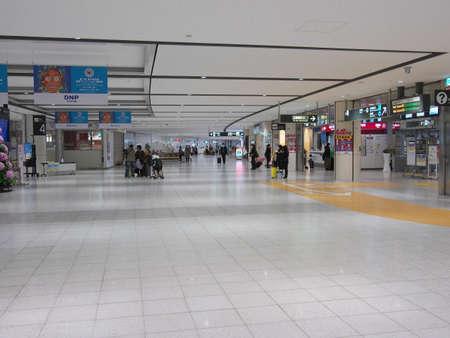Hokkaido,Japan-November 8, 2020: New Chitose Airport Terminal arrival lobby