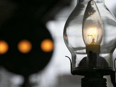 Hokkaido,Japan-November 9, 2020: Closeup of electric lamp bulb