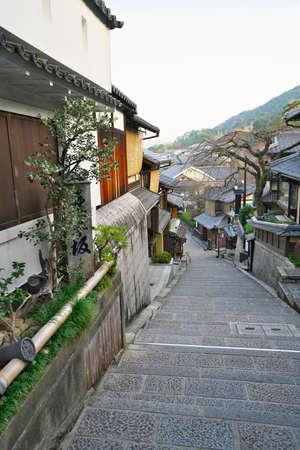 Sannenzaka in Higashiyama area in Kyoto, Japan