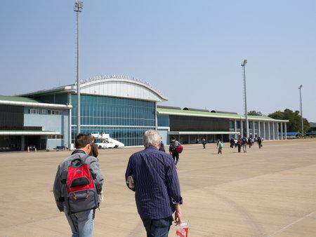 Livingstone,Zambia-July 31, 2015: Tarmac of Harry Mwaanga Nkumbula International Airport
