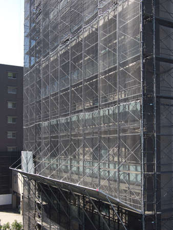 Safety net on a building under repair 写真素材