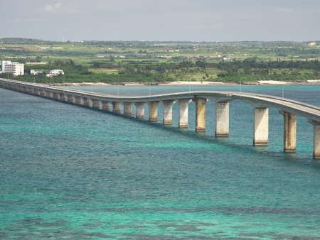 Kurima Bridge viewed from Kurima island Фото со стока