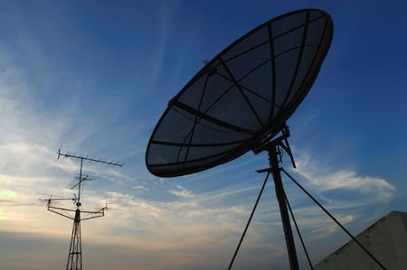 Black satellite dish and TV reciever  Stock Photo - 13263708