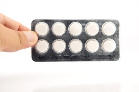 White tablet in blister pack Stock Photo - 19908321