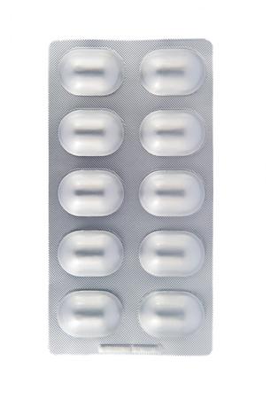 Isolierte Aluminium Blister auf wei�em Hintergrund