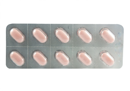 Tablet in transparent blister pack photo