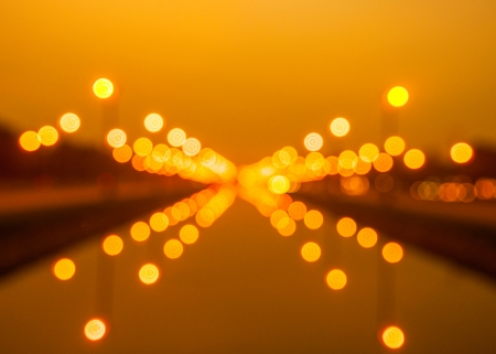 thanon: Bokeh background from light at Thanon Utthayan road in Thailand