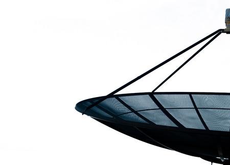 sattelite: Black sattelite on white background Stock Photo