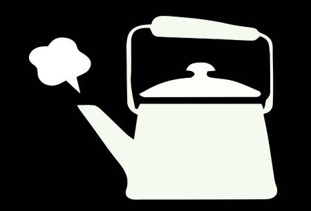 Vector kochendem Teekanne