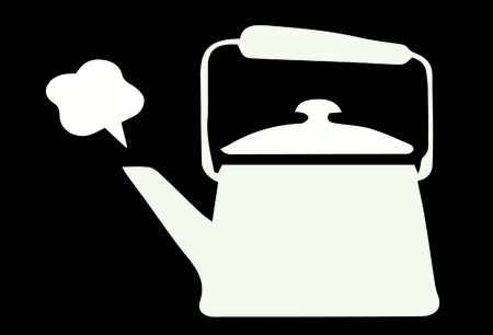 boiling: Vector of boiling tea pot