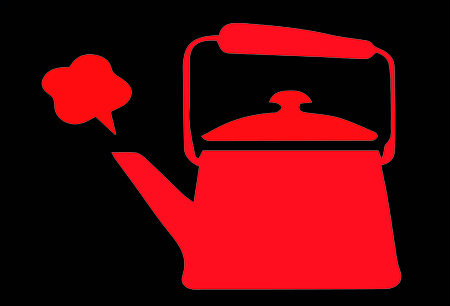 boiling: Vector of boiling tea pot