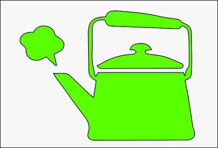 boiling pot: Vector of boiling tea pot