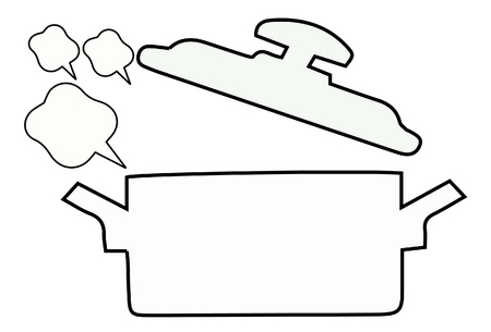 boiling pot: vector of boiling pot Illustration