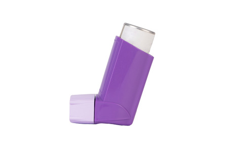 Purple Asthma inhaler
