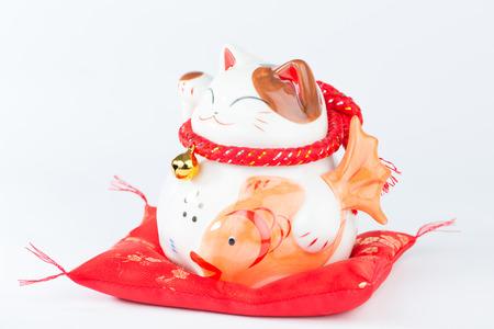maneki: Maneki Neko is Japanese Welcoming Lucky and Money cat