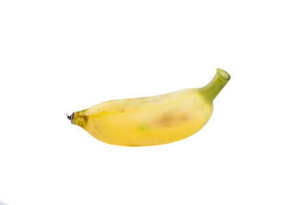 cultivated: Cultivated banana on white Stock Photo
