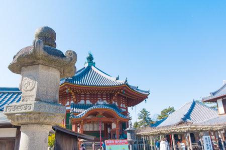 octogonal: Nara, Japón el 31 de ENERO, de 2016; El Norte octogonal Salas de Kofukuji temple.This es un sitio del patrimonio mundial de la Unesco.