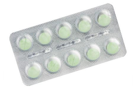 blister: Green tablet in blister pack