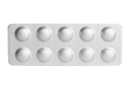 blister: Aluminum blister pack of tablet Stock Photo