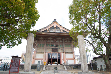 OSAKA,JAPAN - February 2, 2016 :Shitennoji temple in Osaka,Japan Editorial