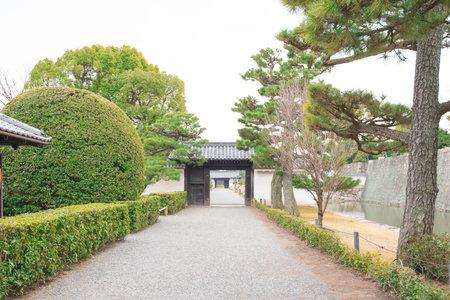 Garden in Ninomaru Palace at Nijo Castle in Kyoto