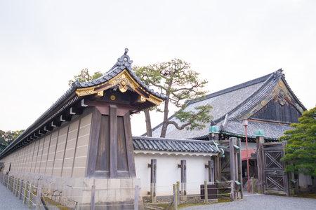 Old building in Ninomaru Palace at Nijo Castle in Kyoto Editorial