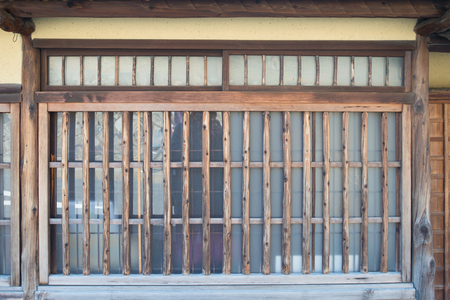 Traditional wood window in Nara,Japan Stock Photo