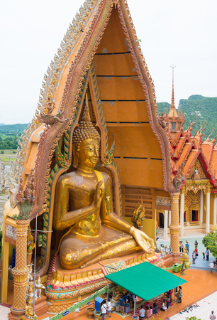 KANCHANABURI, THAILAND - AUGUST 14,2017: Big and beautiful Buddha in Wathumsua in Amphur Tamuang, Kanchanaburi, Thailand