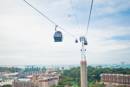 Singapore cable car to Sentosa Editorial