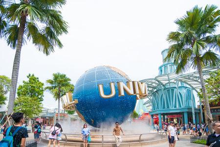 Singapore - 04 Nov 2017: Toeristische visite Universal Studios Singapore op Sentosa Island, Singapore
