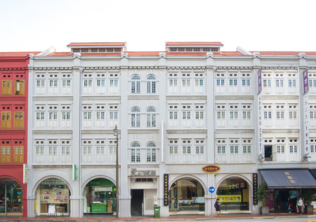 Singapore - 03 Nov 2017 : Old building in China town at Singapore