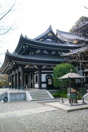 Kamakura, Japan - November 07, 2018: Kanon-do hall in Haze-dera temple or Hase-kannon temple in Kamakura,Japan Standard-Bild - 115462957