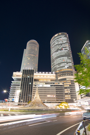 NAGOYA - NOVEMBER 14 2018: JR Central Towers at Nagoya station in Nagoya,Japan