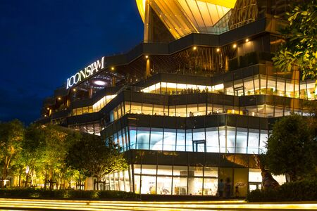 Outside of the Iconsiam on the river Icon Siam is a new shopping center and a landmark in Bangkok,Thailand