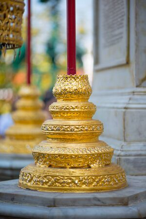 Details of building in Wat Phra Kaew, Temple of the Emerald Buddha, Bangkok, Thailand.