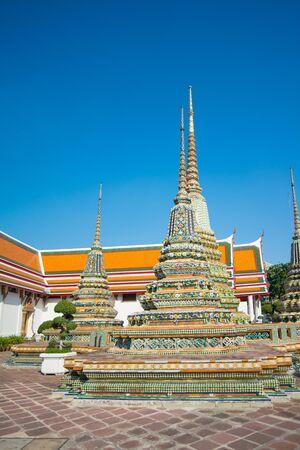 Old pagoda in Wat Phra Chettuphon Wimon Mangkhalaram (Wat pho), Bangkok, Thailand