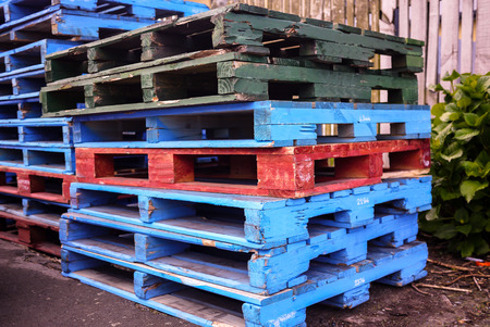colorful of  pallet wood  at New Zealand