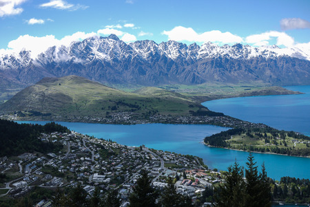 The Remarkables and Lake Wakatipu  , Queenstown, New Zealand