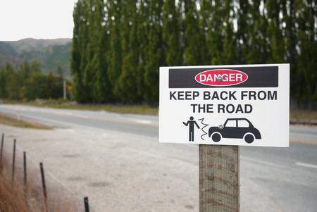 뉴질랜드의 경고 표시 스톡 콘텐츠