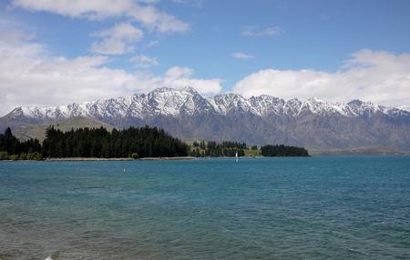 The Remarkables, Wakatipu lake,Queenstown,New Zealand Reklamní fotografie