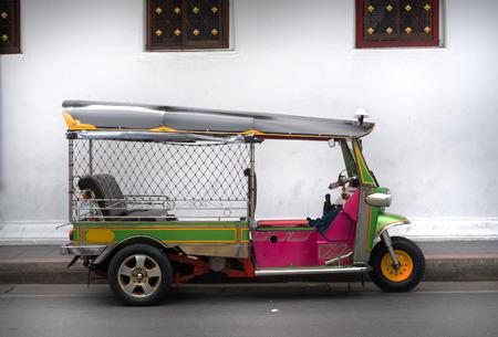 three wheeled taxi  name tuk tuk from Bangkok, Thailand
