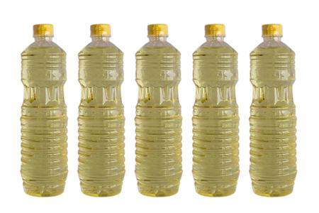 vegetable oil on white isolated background Reklamní fotografie