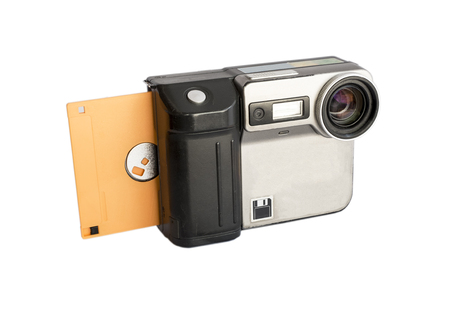discontinued: discontinued digital camera use diskette for save picture (with clipping mask)