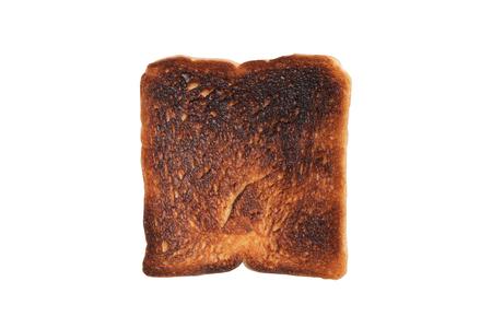 close up Burnt toast on white backround (with clipping mask) Reklamní fotografie