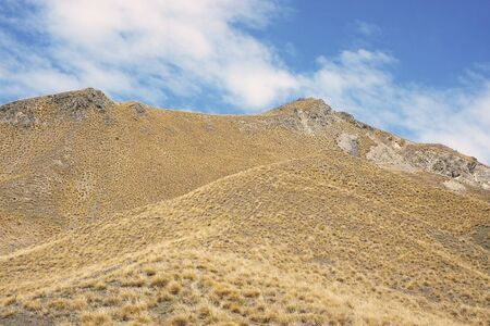 mountain view at Lindis Pass, South Island of New Zealand