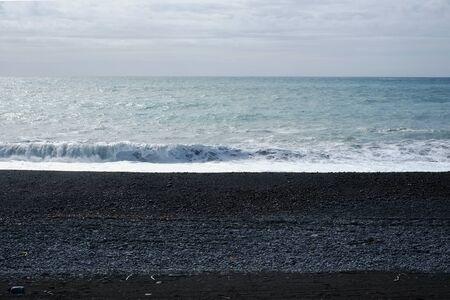 beach at Kaikoura coast , South Island of New Zealand