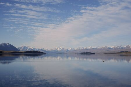lake and mountain view at  Lake Tekapo, New Zealand