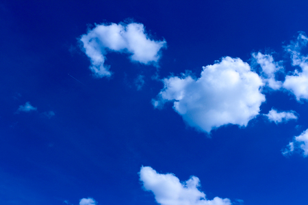 blue sky background with clouds Panorama of the blue sky with clouds Germany Stuttgart city