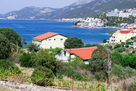 Amazing view of Bosnia and Herzegovina in the Bay of Mali Ston small village near to sea and mountains Stockfoto